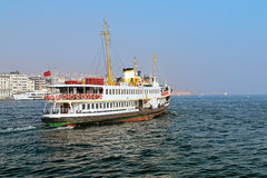 Passenger ship in Bosporus, Istanbul. Turkey Stock Images