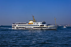 Passenger ship in Bosporus -Istanbul, Turkey Royalty Free Stock Images