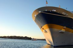 Passenger ship bow Stock Images