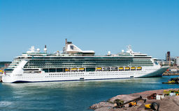 Passenger ship Brilliance of the Seas in port  of Helsinki, Fin Stock Photography