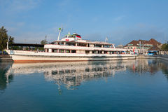 Passenger ship Bubenger at the berth in Thun Stock Photos