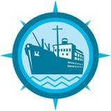 Passenger Ship Cargo Boat Retro Stock Photography