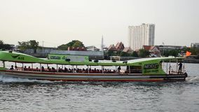 Boat transport in the Chao Phraya River stock video