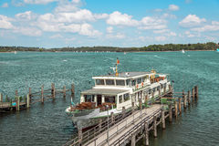 Passenger ship on Chiemsee in Germany Stock Photography