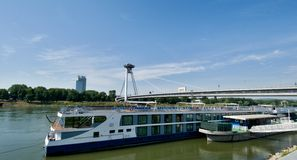 Passenger ship on the Danube Stock Photo