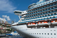 Passenger ship Diamond Princess in port Vladivostok. East (Japan) Sea. Russia. 02.09.2015 Royalty Free Stock Photos
