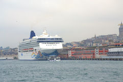 Cruise ship in Istanbul Stock Photo