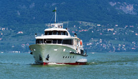 Passenger ship on Lake Balaton Royalty Free Stock Photos