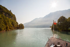 Passenger ship on Lake Brienz. In Switzerland Royalty Free Stock Image