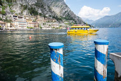 Passenger ship on Lake Garda Royalty Free Stock Photo