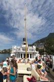 Passenger ship on lake Geneva Stock Photo
