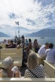 Passenger ship on lake Geneva Stock Photos