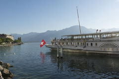 Passenger ship on lake Geneva Stock Image