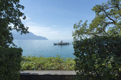 Passenger ship on lake Geneva Stock Images