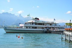 Passenger Ship On Lake Thun / MS Bubenberg Stock Photography