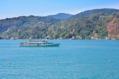 Passenger ship on Lake Worth. Austria Royalty Free Stock Photography