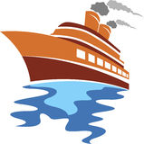 Passenger ship logo Stock Images
