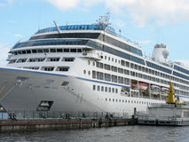 Passenger ship moored Stock Image