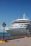 The passenger ship is moored in port Royalty Free Stock Photography