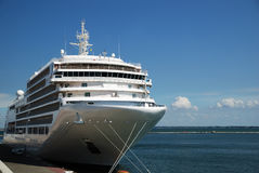 The passenger ship is moored in port Stock Photography