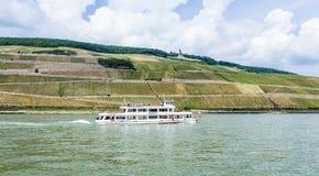 Passenger ship on pier in Bingen Royalty Free Stock Photo