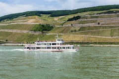 Passenger ship on pier in Bingen Royalty Free Stock Images