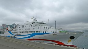 The passenger ship in port. Stock Photography