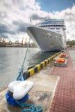Passenger ship in port Stock Photo