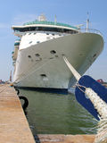 The passenger ship in port Stock Photo