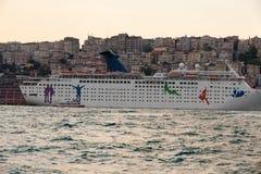 The passenger ship Royalty Free Stock Photo