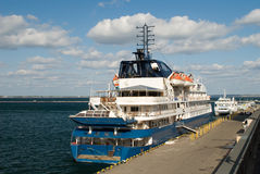 Passenger ship in port Stock Photography
