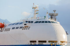 Passenger ship in port Stock Photo