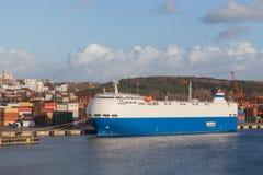 Passenger ship in port Stock Images
