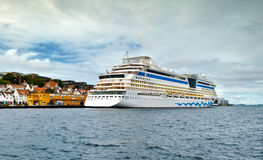 Passenger ship at the port of Stavanger, Norway Stock Photos