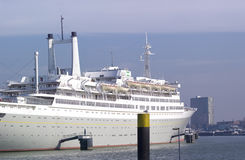 Passenger ship in Rotterdam Royalty Free Stock Photography
