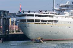 Passenger ship in Rotterdam Stock Images