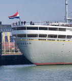 Passenger ship in Rotterdam Stock Photos