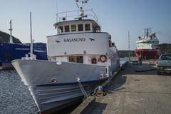Passenger ship Sagasund Royalty Free Stock Images