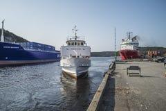Passenger ship Sagasund Royalty Free Stock Photography