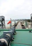 Passenger ship sailing for haikou port,china Stock Photos
