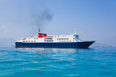Passenger ship at sea Royalty Free Stock Photos