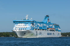 Passenger ship Silja Galaxy Royalty Free Stock Images