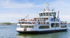 Passenger ship Suomenlinna II with many tourists Stock Photography