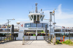 Passenger ship Suomenlinna II is mooring Royalty Free Stock Images