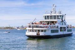 Passenger ship Suomenlinna II with tourists Stock Photo