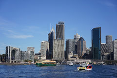 Passenger ship at Sydney Harbour Stock Photos