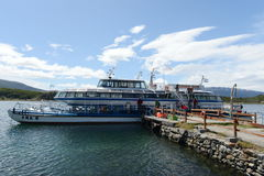 Passenger ship at Wharf estates Harberton. Stock Image