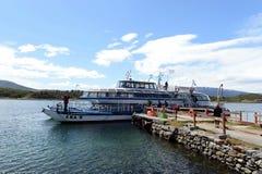 Passenger ship at Wharf estates Harberton. Stock Photos
