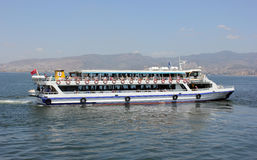 Passenger ship whith a passengers Royalty Free Stock Photography