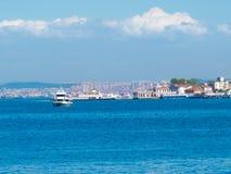 Passenger ships around the island Buyukada Stock Photography